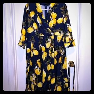 Dresses - Retro vintage style lemon dress